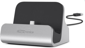 Portronics POR-639 Type-C Connector with charging Dock Dock(Grey)