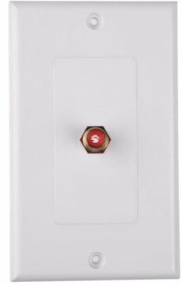 MX 1 SOCKET RCA FEMALE WALL PLATE FACEPLATE (114 X 70 mm) Dock(White)