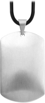 Inox Jewelry Dome Id Tag SSP8757 Plain Silver Dog Tag