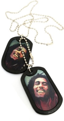 Ammvi Creations Bob Marley Graphic AMV-DG8899005 Embossed Black Dog Tag