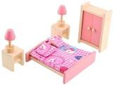 Soledi Wooden Doll Bedroom House Furnitu...