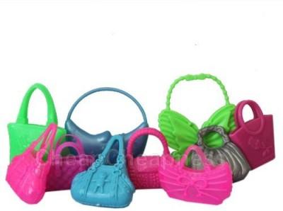 Buytra Hot Cute Mix 10pcs Different Barbie Handbag Shoulderbag For Barbie Doll Accessory(Multicolor)