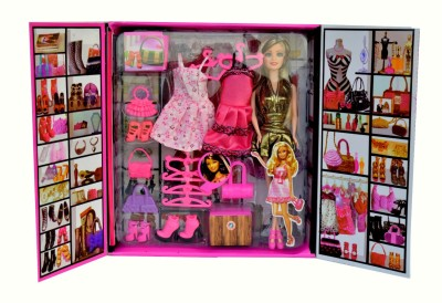 ES-KO Party Girl Doll and Her Personal Style Wardrobe Set - Fun Fashion Princess Holiday Toys for Kids