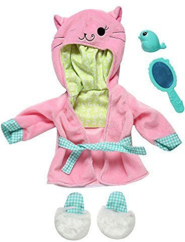 Funrise Baby Alive One Size Fits All Outfits - Pretty Kitty Bathrobe(Multicolor)