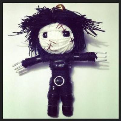 String Doll World Edward Scissorhands String Keychain(Black)