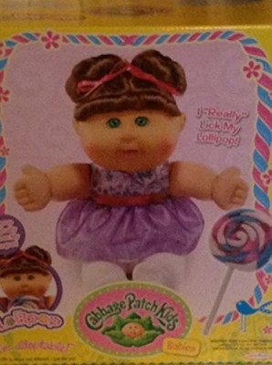 Cabbage Patch Kids Babies I Really Lick My Lollipop Brunette & Green