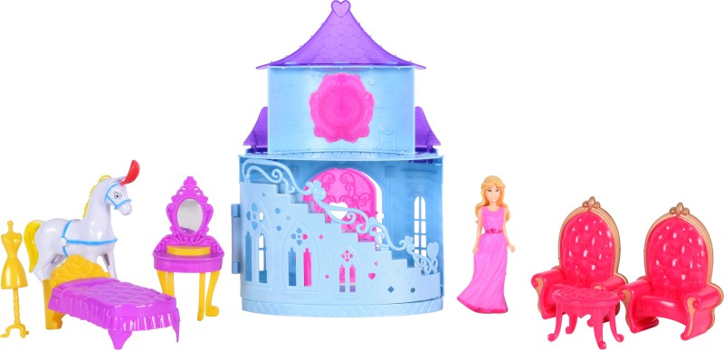 Planet of Toys Beautiful Princess Castle with Accessories(Multicolor)