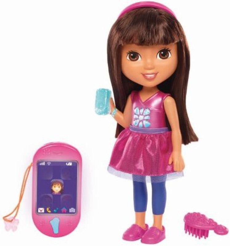 Dora the Explorer Fisher-Price Nickelodeon Dora & Friends Talking Dora & Smartphone(Multicolor)