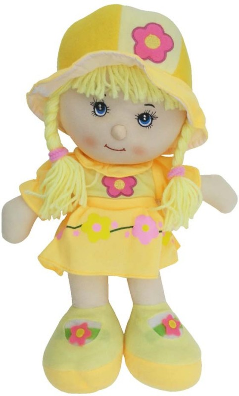 Montez Lovely Rag Baby Doll Soft Toy(Yellow)