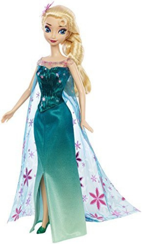 Mattel Disney Frozen Fever Elsa Doll(Multicolor)