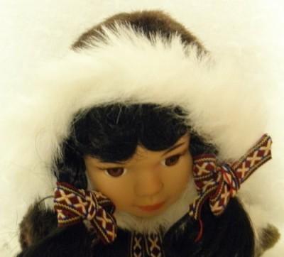 Arctic Circle Alaskan Friends Traditional Alaskan Eskimo With Fur Parka