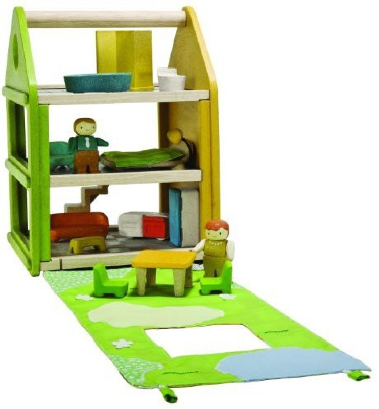 PlanToys Toys Tote and Go Rag Doll House(Multicolor)
