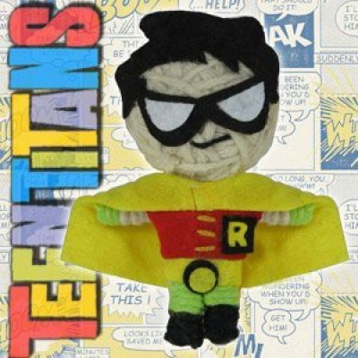 Teen Titans Dolls Dc Comics Robin String Keychain(Multicolor)
