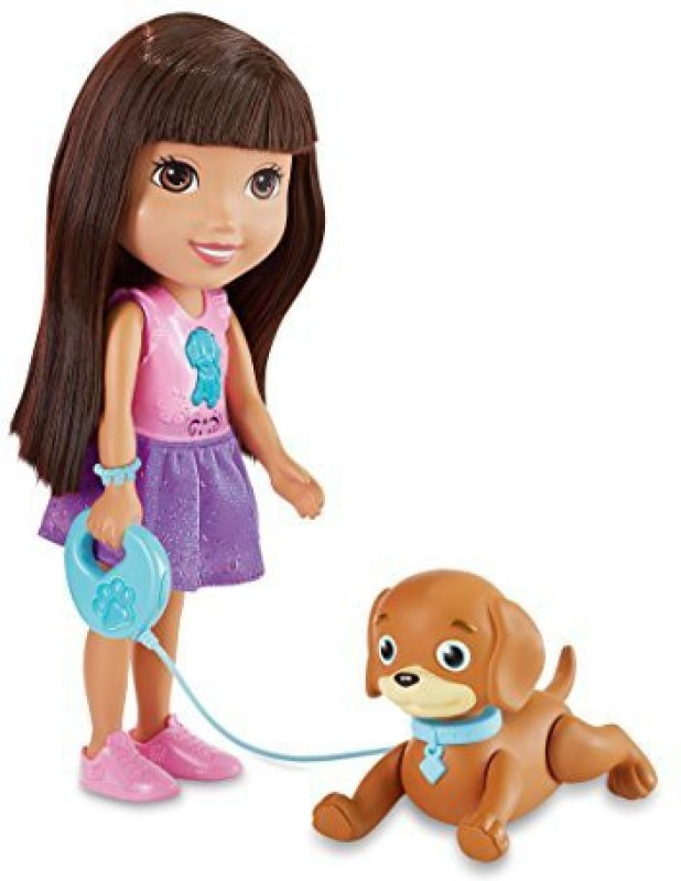 Fisher-Price Nickelodeon Dora And Friends Train And Play Dora And Perrito(Multicolor)