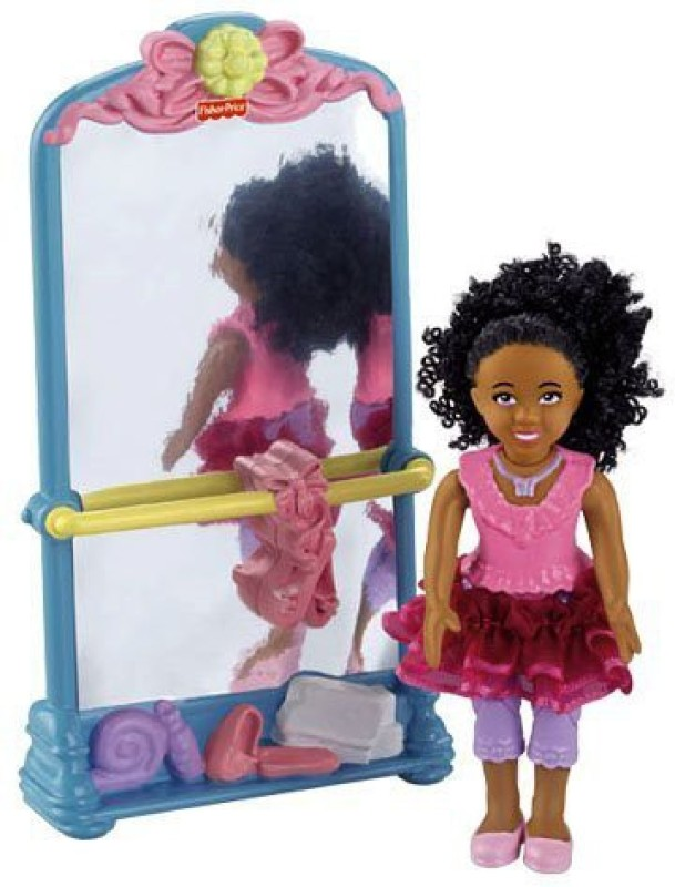 Fisher-Price Loving Family Sister Plus Ballet Stand With Mirror(Multicolor)