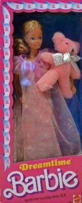 Mattel Barbie Dreamtime With Bear 1984