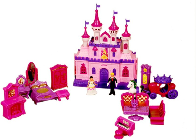 Montez Dream Castle Doll House(Pink)