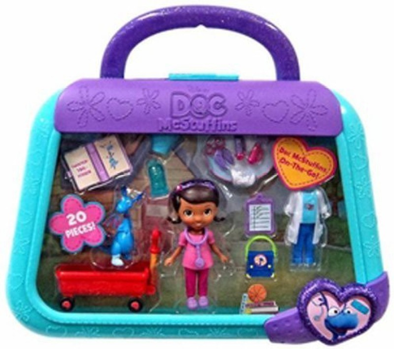 Just Play Doc Mcstuffins On The Go Case Stuffy Playset(Multicolor)