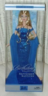 Mattel September Sapphire Barbie Birthstone Collection(Blue)