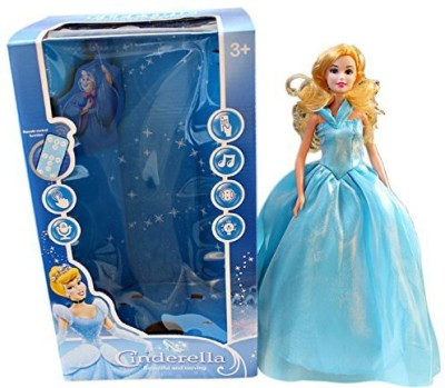 GoMerryKids Battery Operated Cinderella Remote Control Doll with a lot of features(Blue)