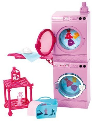 Barbie Glam Laundry Furniture Set(Multicolor)