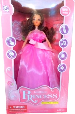 RIANZ RIANZ Beautiful Remote Control Intelligent Princess Dancing, Singing and Moving Doll with lot of new features (Pink)