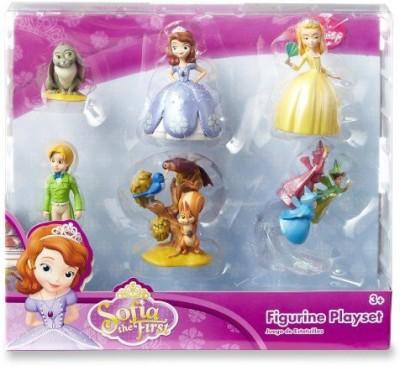 Disney Sofia The First Princess 6 Pc Figurine Set