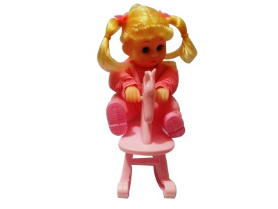 9Perfect Cute Musical Doll Rocking on Horse(Pink)