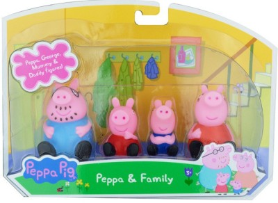 Switch Control Peppa Pig Set of 4 Doll