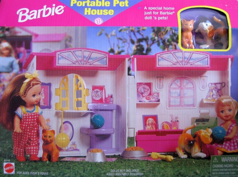 Barbie Portable Pet House(Multicolor)