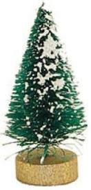 "Factory Direct Craft Piece Package Miniature Frosted Forest Sisal Trees Stand on Tiny Wooden Bases. -1"" High(Multicolor)"