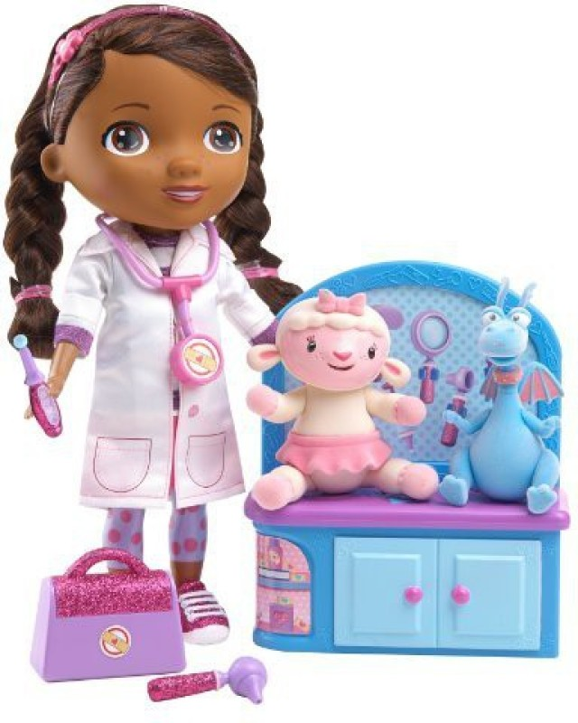 Just Play Disney Doc Mcstuffins Magic Talkin' Doc & Friends(Multicolor)