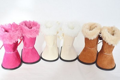 DollsHobbiesNmore Three Pairs Of Boots For American Girland Bitty Twins(Multicolor)