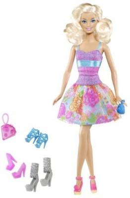 Mattel Exclusive Shoe Fashionista Barbie (4 Pairs Of Shoes & 2(Multicolor)