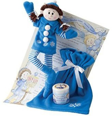 Elf-Magic Elf Magic Hanukkah Helper Girl With Brunette Hair 10 Inches