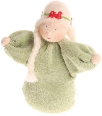 Grimm's Spiel and Holz Design Grimm,S Little Lavender Girl Waldorf Pale Green With Braids