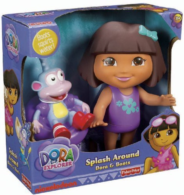 Dora the Explorer Fisher-Price Splash Around Dora and Boots(Multicolor)