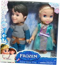 Origin Frozen Doll Elsa and Kristoff(Multicolor)