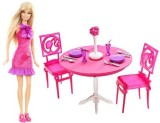 Barbie Mattel Doll and Dining Room Gift ...