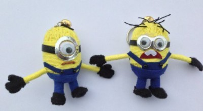 String Doll World String Keychain Minions Set (Pair)(Multicolor)