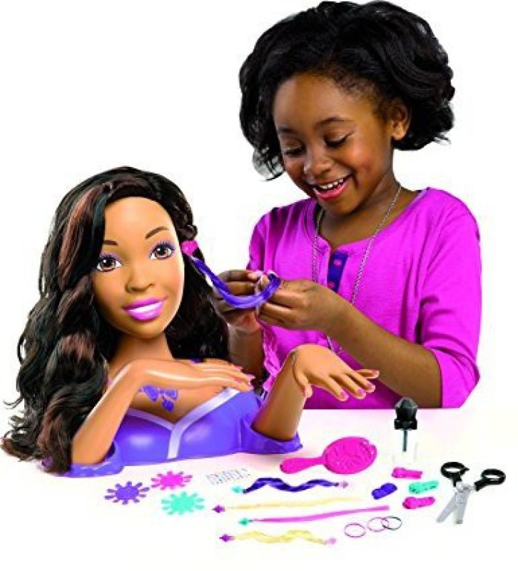 Just Play Barbie Colorcut And Style African American Styling Head(Multicolor)