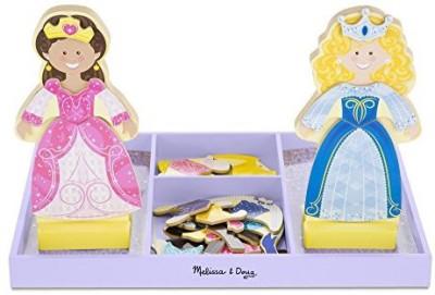 Melissa & Doug & Doug Princess Play Magnetic Dress Up Doll(Multicolor)