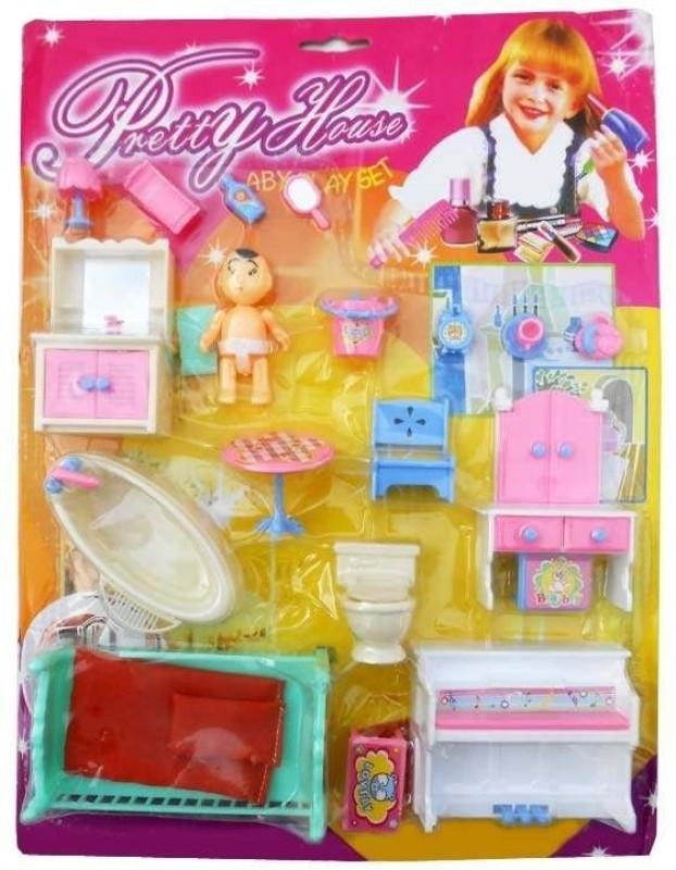 Shop & Shoppee Pretty House Furniture Kit(Multicolor)