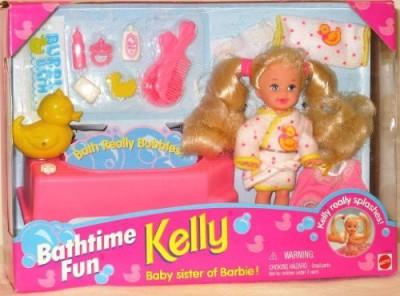 Barbie Kelly Bathtime Fun Set Kelly Really Splashes (1995)