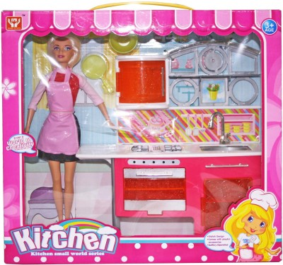Venus-Planet of Toys Fashion Glam Doll W Dlx Kitchen