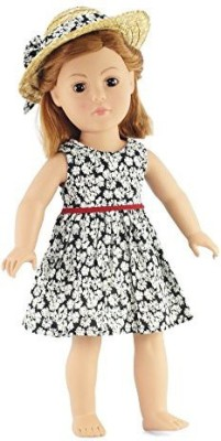 Emily Rose Doll Clothes 18 Inch Clothes/Clothing Fits American Girl Black Floral