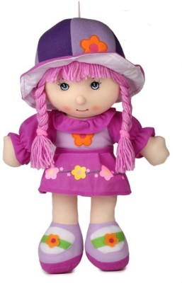 Baby World Non Toxic Washable Baby Doll(Purple)