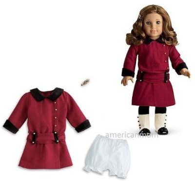 American Girl Rebecca,S Meet Outfit For Rebecca Not Included(Maroon)