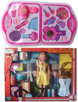 New Pinch combo of Dr.Dolly Doll First Aid Kit & fashion beauty set