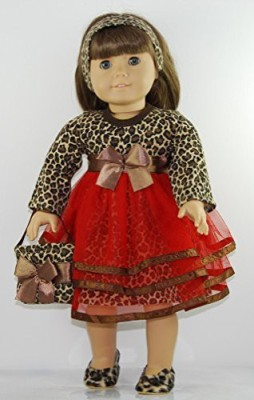 Doll Clothes Shop Animal Print 4 Pc Party Dress Outfit Includes Animal Print
